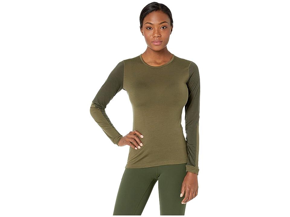 Fjallraven Keb Wool T-Shirt Long Sleeve (Laurel Green/Deep Forest) Women