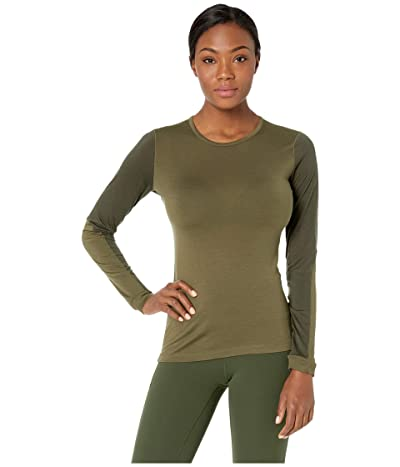Fjallraven Keb Wool T-Shirt Long Sleeve (Laurel Green/Deep Forest) Women
