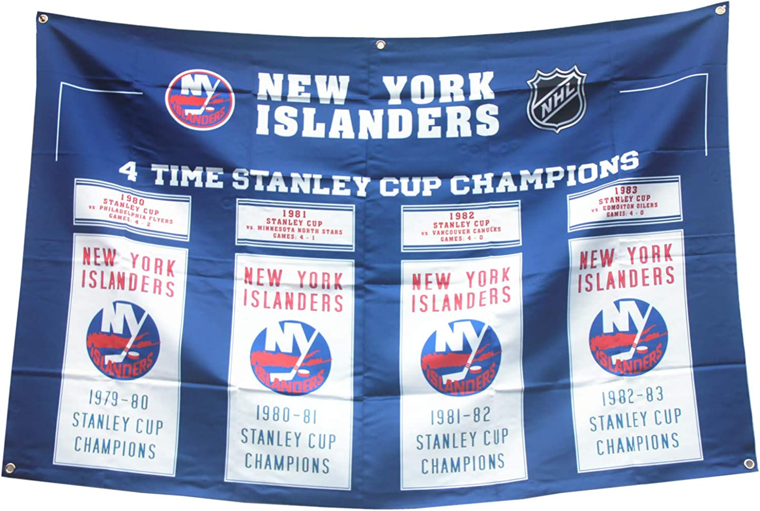 XiaKoMan 'New 'York 'Islanders 4 time Stanley Cup Champions Flag 35 Championship Banner Gifts for Youth Kids Mens Boys (Islanders)