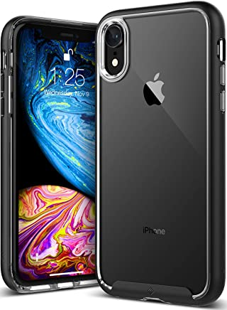 Caseology Skyfall for iPhone XR Case (2018) - Clear Back & Slim Fit - Black