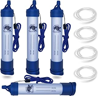 EHS Personal Filtration System to Purify Clean Water to Drink, for Camps, Backpacks, Emergencies, Traveling, Outdoors, Hyd...