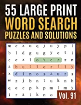 55 Large Print Word Search Puzzles and Solutions: Activity Book for Adults and kids | Large Print Word Find Puzzles for Adults & Seniors ( Find Words for Adults & Seniors Vol. 91 )