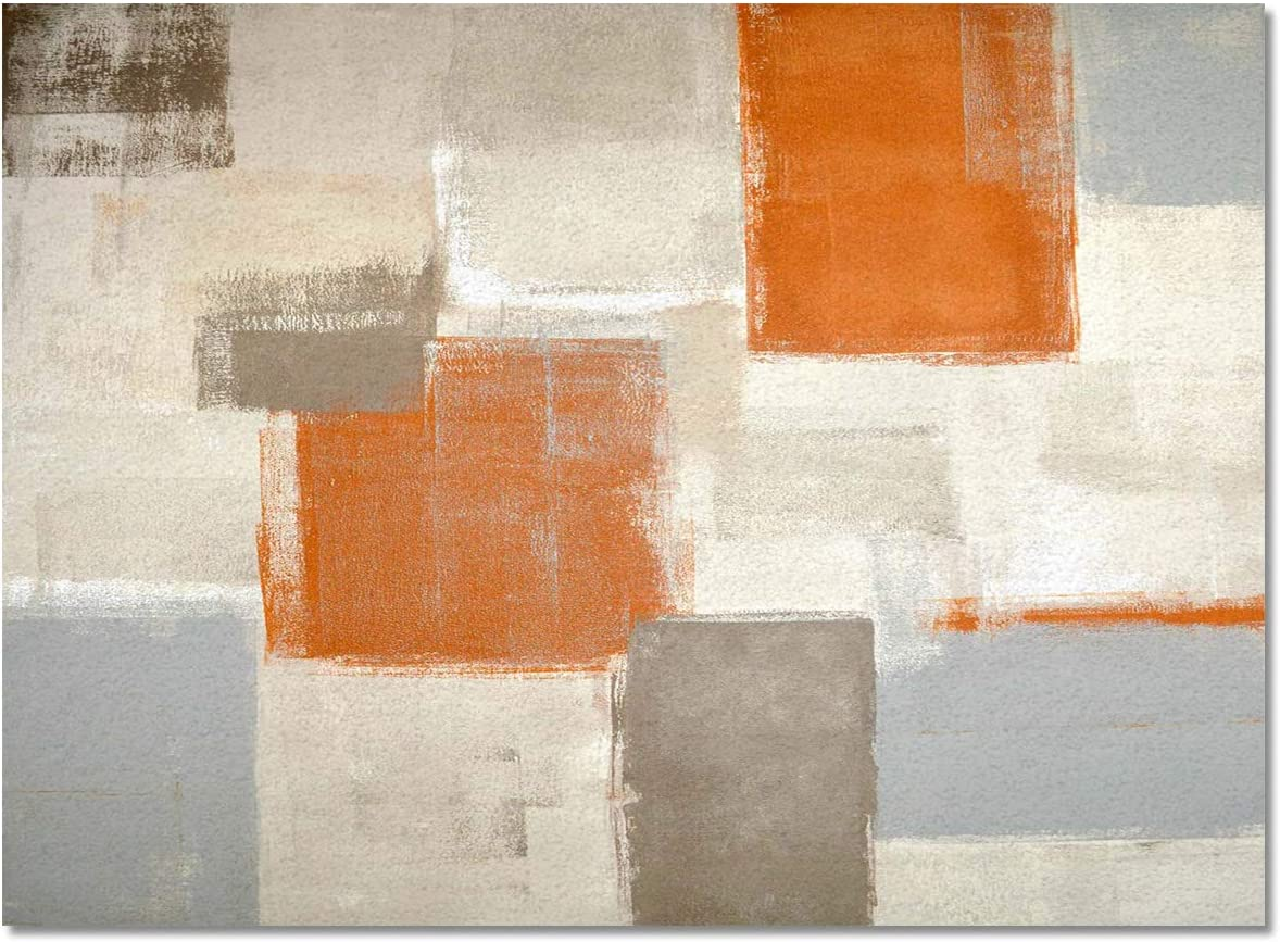 ZOE GARDEN Area Rug 2' x Dealing full price reduction 3' Patc Living Orange and price Grey Room for