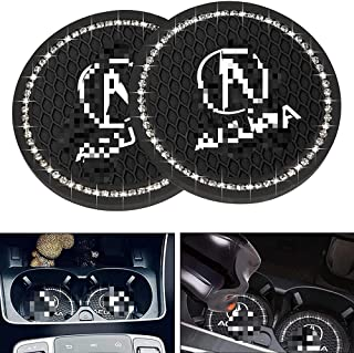 2 Pcs for Acura Car Cup Holder Insert Coaster Interior Accessories,2.75 Inch Silicone Anti Slip Bling Crystal Rhinestone Car Coaster for Acura All Models
