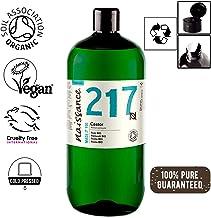 Naissance Aceite de Ricino BIO 1 Litro - Puro, natural, certificado ecológico, prensado en frío, vegano, sin hexano, no OGM - Hidrata y nutre el cabello, las cejas y las pestañas
