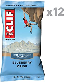 CLIF BAR - Energy Bars - Blueberry Crisp - (2.4 Ounce Protein Bars, 12 Count)