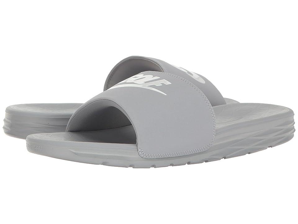 Nike Golf Benassi Solarsoft 2 G (Wolf Grey/White) Golf Shoes