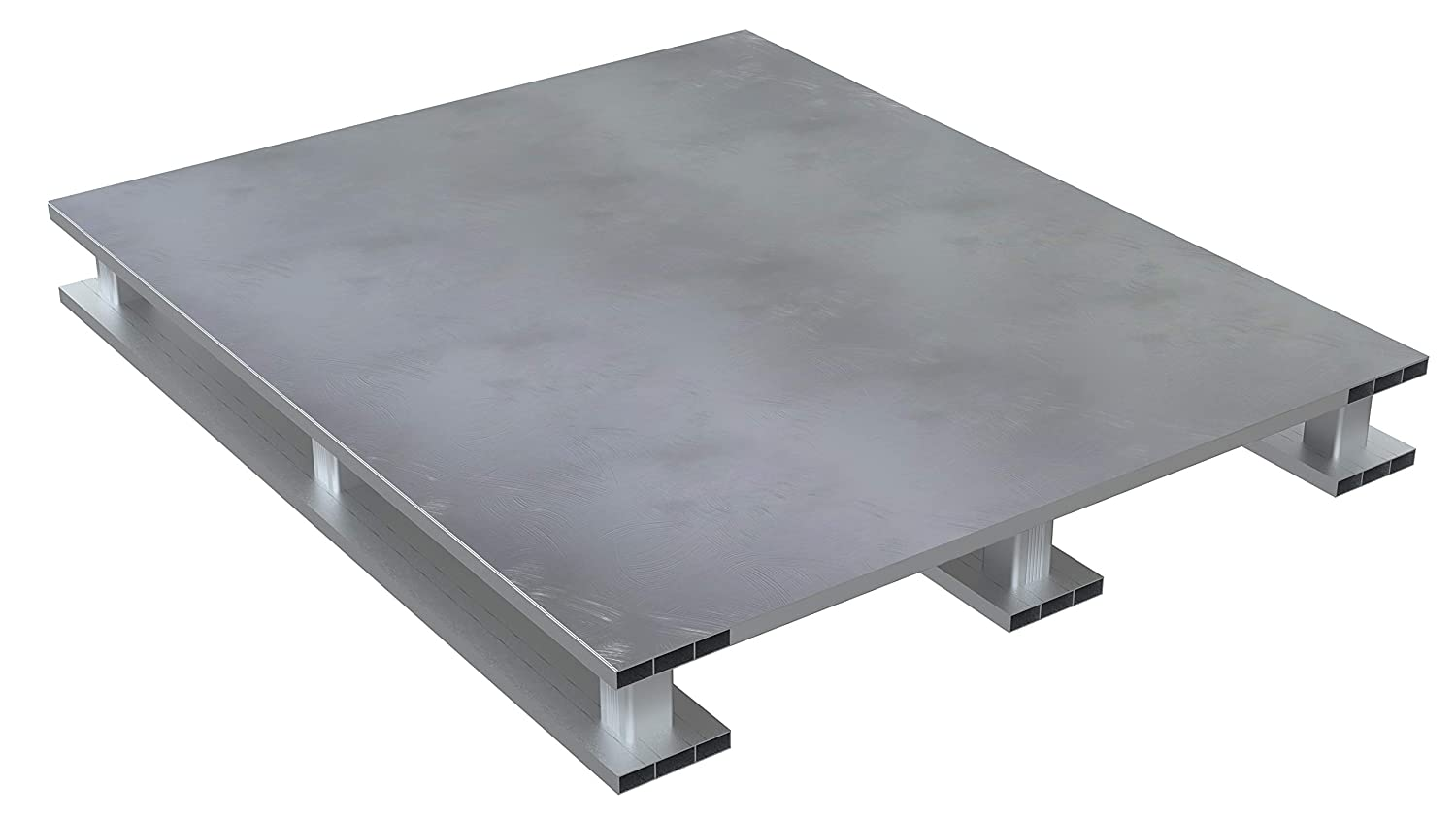 Vestil Heavy sold out Duty Aluminum Pallet Top Bottom 42X48 New product Solid Skid