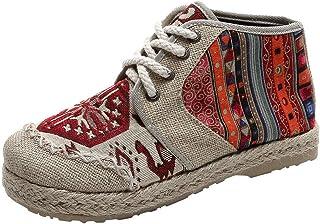 Espadrilles Femme Tendance Mode Pas Cher Plates Ethniques Style Talon éPais Soldes Chaussures Haute DéContractéEs Loafers