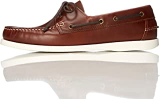 find. Amz038_Leather, Chaussures Bateau Homme,