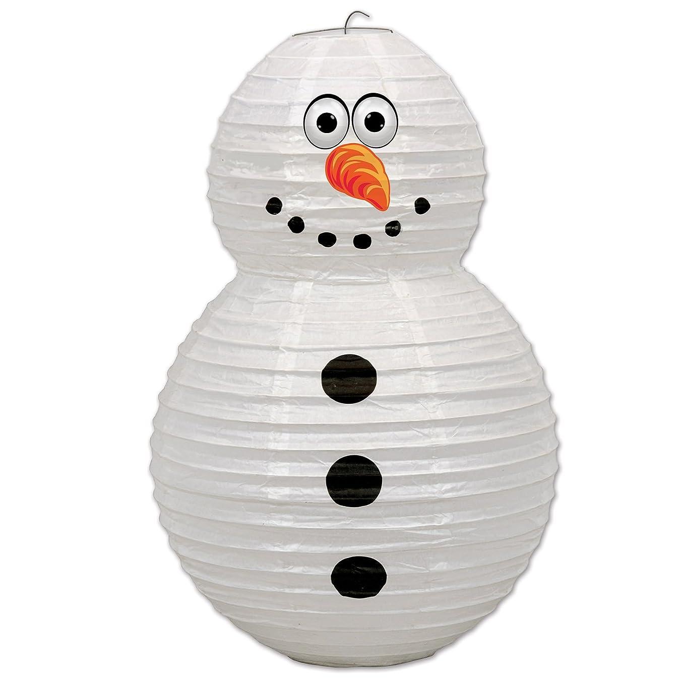 Beistle 20787 Snowman Paper Lantern, 19