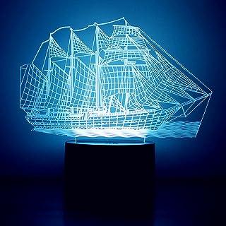 Youvinson Lumières 3D créatives, lampe de couchage LED avec 7 couleurs de changement Touch Control Lampes de table pour la...