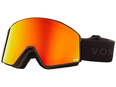 VonZipper Capsule Goggle (Black Gloss/Wild Fire Chrome Lens) Goggles