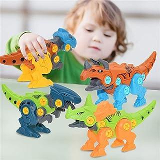 DIY Assembled Transformation Dinosaur Toy Set,Kids Hobby Deformation Robot,Disassembly Dinosaur Model Gift for Boys 3 Year...