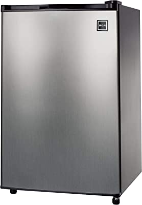 RCA RFR441 Fridge, 4.5 Cubic Feet, Stainless Steel