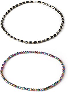 Thunaraz Health Energy Necklace Healing Hematite Magnetic Therapy of Beads Necklace for Women Jewelry