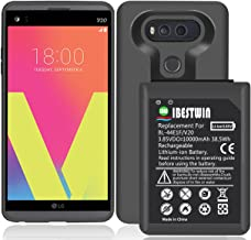 IBESTWIN 10000mAh High Capacity Replacement Battery for LG V20 BL-44E1F H918 H910 US996 LS997 VS995 with Soft TPU Protective Case
