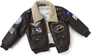 Brown Aviator Jacket-Youth; COLOR: BROWN