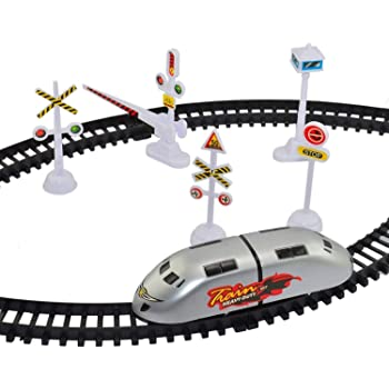 SKENT HRK High-Speed Battery Operated Bullet Train Toy Set Game with Tracks and Signals for Kids