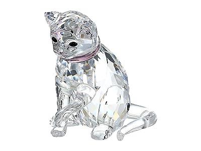 Swarovski Cat Mother Figurine (Light Multi) Earring