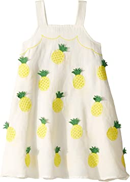 Sleeveless Pineapple Embroidered Dress (Toddler/Little Kids/Big Kids)