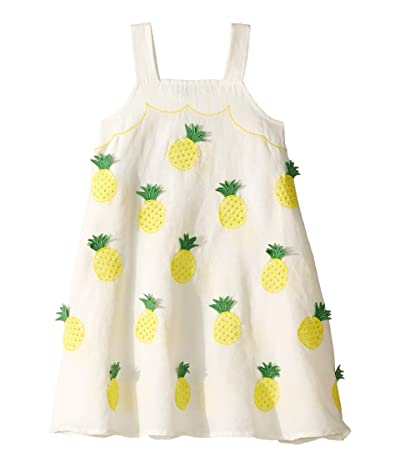 Stella McCartney Kids Sleeveless Pineapple Embroidered Dress (Toddler/Little Kids/Big Kids) (Cream) Girl
