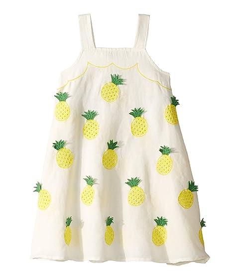 Stella McCartney Kids Sleeveless Pineapple Embroidered Dress (Toddler/Little Kids/Big Kids)