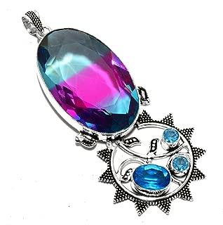 bi color tourmaline pendant
