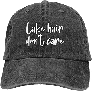 OASCUVER بحيرة الشعر لا تهتم قبعة البيسبول القطن قابل للتعديل بحيرة الحياة الرجال قبعة