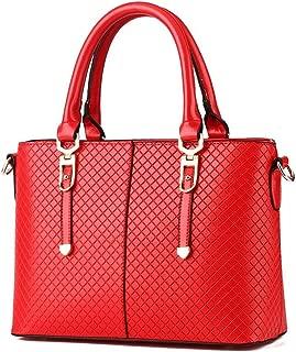 Desklets Women's Vintage Fashionable Purse Tote Bags Top Handle Handbag(Red)
