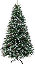 SLZFLSSHPK Kerstboom decoratieKunstmatige Pine Tree met Metalen Stand Pine Cone Berry Boom Decoratie Xmas Bomen Kunstmatig...
