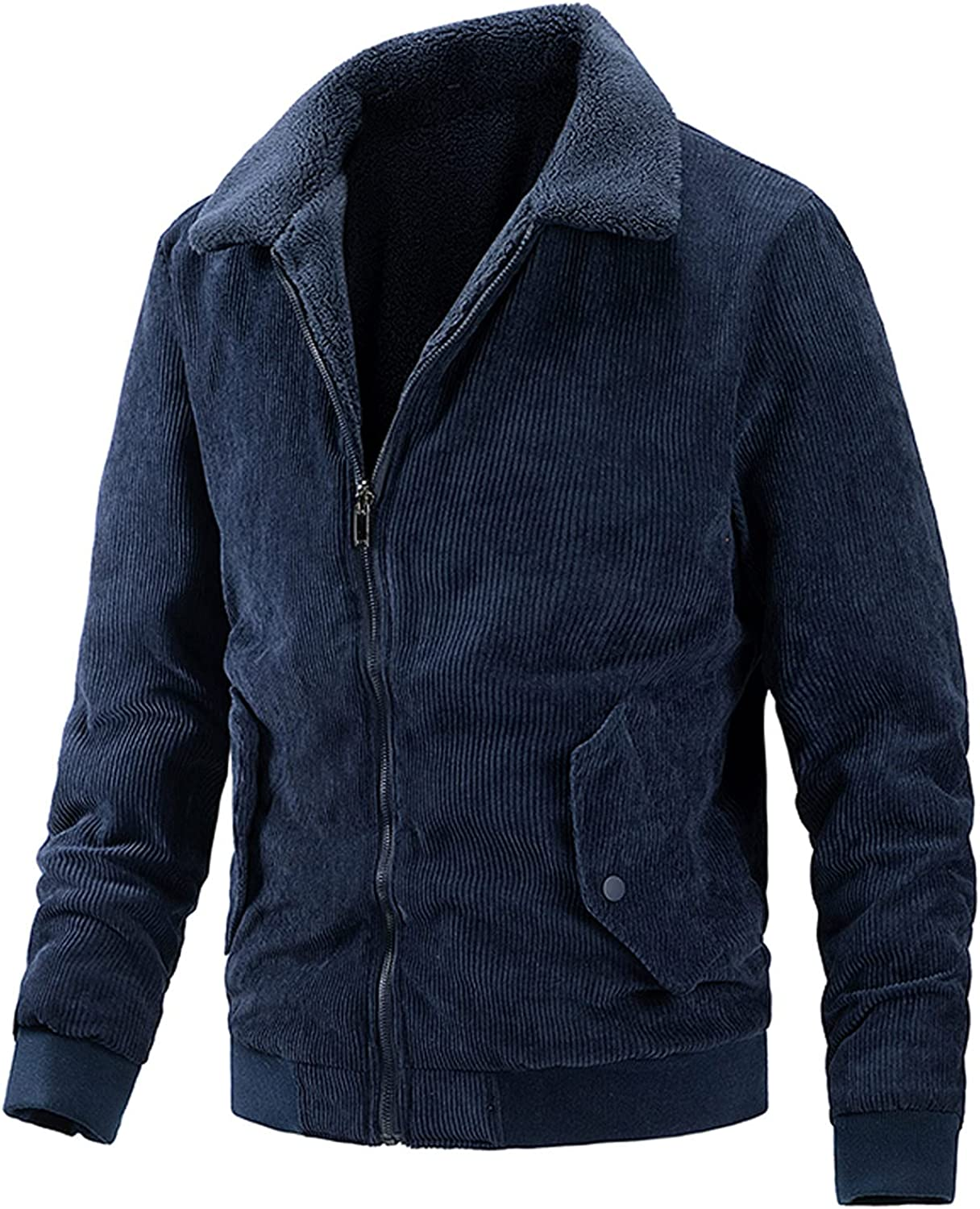 FORUU Military Jackets For Men Casual Autumn Winter Warm Wear On Both Sides Coats with Pockets Oversize Peacoat Outwear