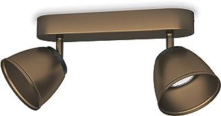Philips 533520616 County Luminaire d'Intérieur Spot LED Métal Bronze 4 W