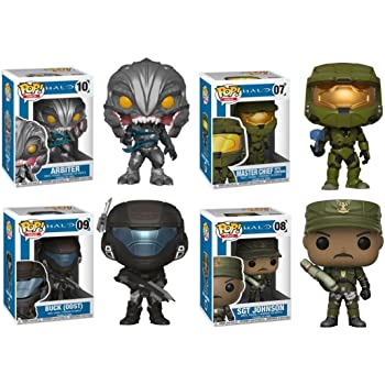 Funko Pop-Jeux-Halo-Sgt Sargent Sergent Johnson