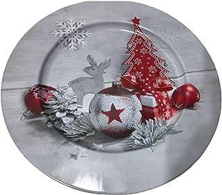 Idena 30179 bord Kerstmis, grijs/rood