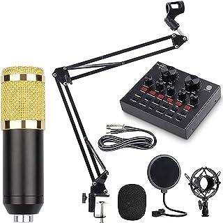 Metal Microphone Set, BM-800 Mic Kit with Adjustable Mic Suspension Scissor Arm, Metal Shock Mount and Doubl - Layer Pop F...