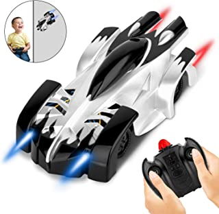 AOKESI Wall Climbing Car for Kids RC Cars with 360°Rotating Stunt, Air RC Cars with Dual Mode High Speed Car, Air Climbing Car with Powerful LED Lights, Ideal Kids Gift for Christmas