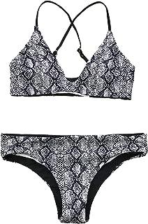 Women's Reversible Design Strappy Cross Back Padding Bikini