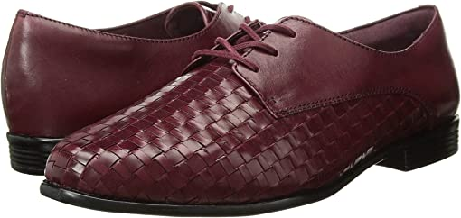 Black Cherry Woven/Smooth Leather