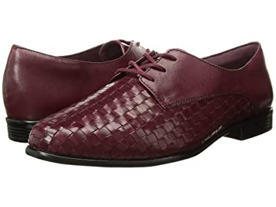 Trotters Lizzie (Black Cherry Woven/Smooth Leather) Women