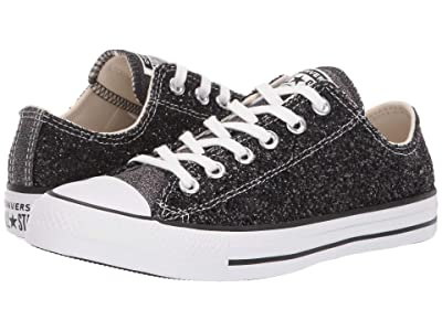 Converse Chuck Taylor All Star Glitter Ox (Black/Silver/White) Women