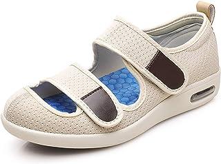 Goodant Womens Sandals for Diabetic Edema bunions Swollen Feet Comfortable Mesh Elderly Walking Shoes Wide Adjustable Slip...