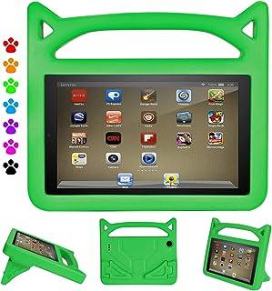 Tablet 7 2019 Case, Tablet 7 Case for Kids - Ubearkk Kids Shockproof Foam Case with Stand Handle Kids Cat Ear Cover for 7 ...