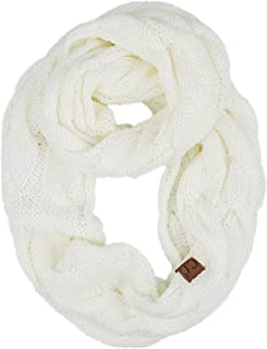 Solid and Multi Color Cable Knit Soft Infinity Scarf (SF-800)(SF-6242)(SF-800)