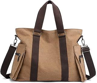 DOURR Hobo Handbags Canvas Crossbody Bag for Women, Multi-pocket Tote Purse Bags
