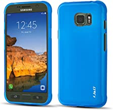 J&D Case Compatible for Galaxy S7 Active Case, [Drop Protection] [Slim Cushion] Shockproof Protective TPU Slim Case for Samsung Galaxy S7 Active Bumper Case - [Not for Galaxy S7 / S7 Edge] - Blue