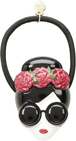 Alice & Olivia Stace Face With Flowers Hair Tie Multi dnlRYdX