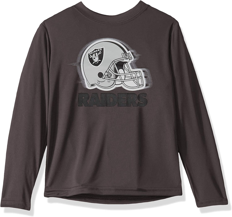 NFL Boys Long Sleeve Grey Logo Tee Shirt