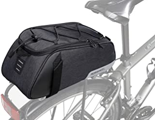 Roswheel Bike Rear Seat Bag, Bicycle Backseat Bag Cycling Pannier Rear Rack Trunk Bag Chest Bag Water Resistant 7L Massive Capacity for Outdoor Traveling Hunting Commuting