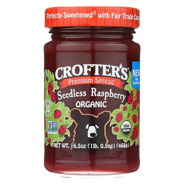 Crofters Recommendation Fruit Max 83% OFF Spread - Organic Raspberry Premium 16.5 Oz